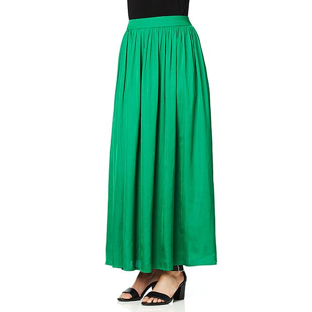 Silk Touch Maxi Skirt - Green | Target Australia $40 | Long ...