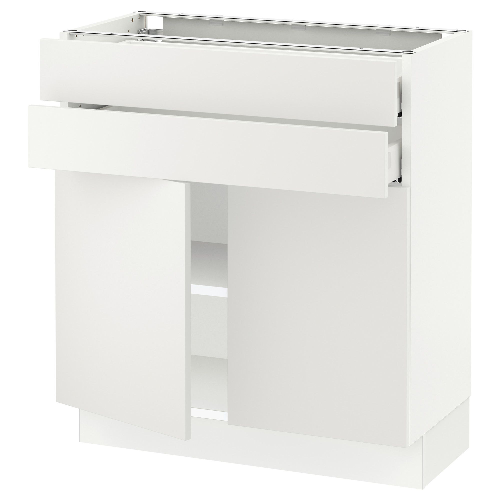 Ikea Sektion Blanc Armoire Inf 2 Portes 2 Tir Frame Colour