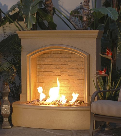 Small Firefall With Images Outdoor Gas Fireplace Outdoor Fire