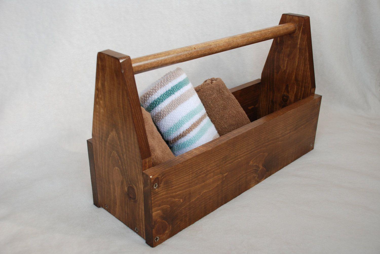 Whitewood wooden toolbox decor box magazine rack - Home decor subscription box ...