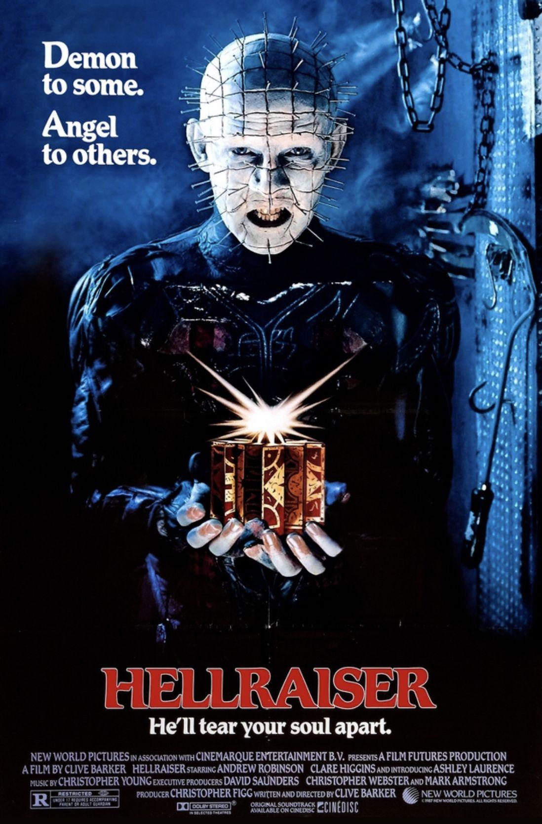 Movie poster Hellraiser, Horror movies on netflix, Free