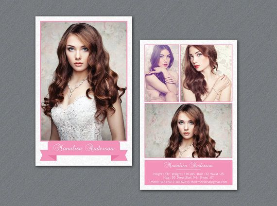 Modeling Comp Card Template Model Comp Card Photoshop Etsy Model Comp Card Card Templates Free Card Model