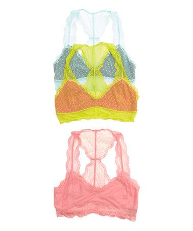 Look at this #zulilyfind! Cashmere & Iced Melon Gum Drop Scarlette Wireless Bralette Set #zulilyfinds