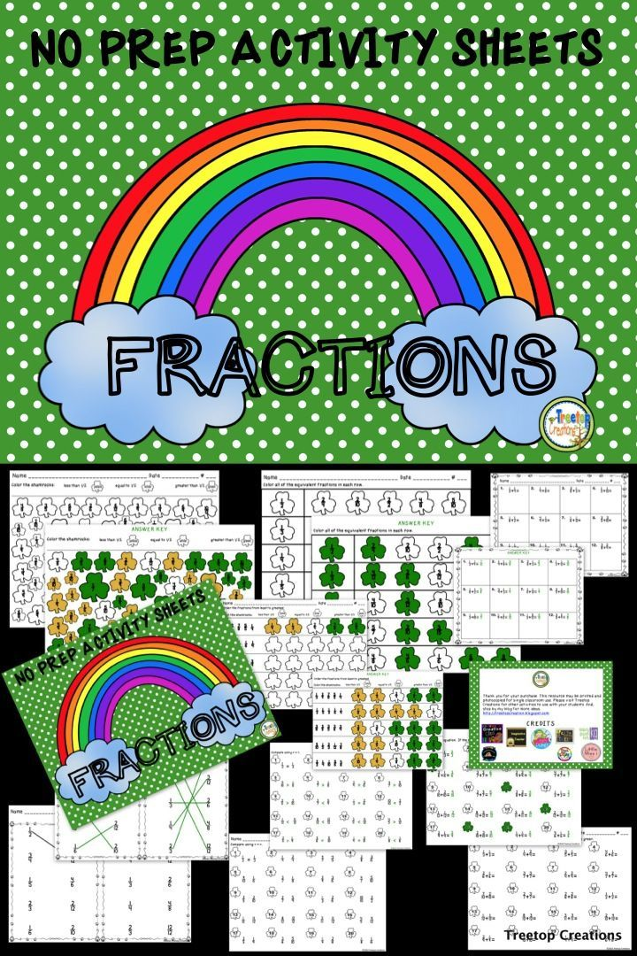 Fractions March Activity Sheets | March themes, Activities and Maths