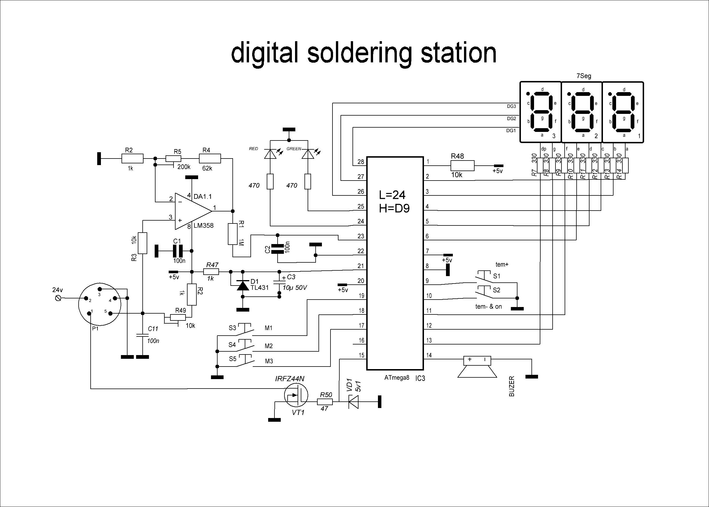 Championelectronic Digital Soldering Station First Run Wiring Soldering Soldering Iron Diagram