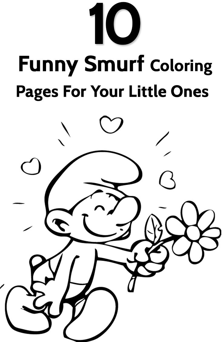 Smurf Coloring Pages - Free Printables | Pinterest | Free printable ...