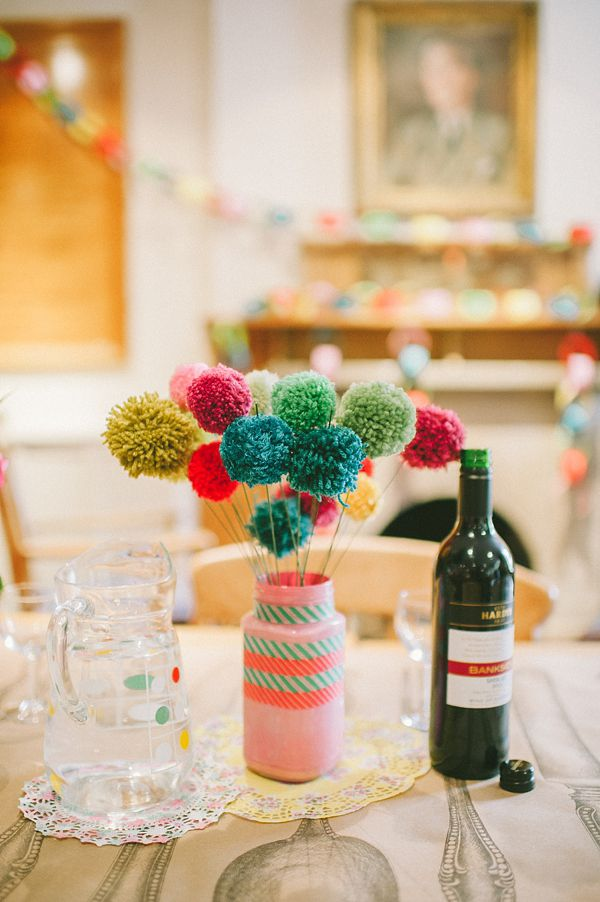 Diy knitted pom poms photography by bigbouquet do it find this pin and more on do it yourself green wedding shoes solutioingenieria Choice Image