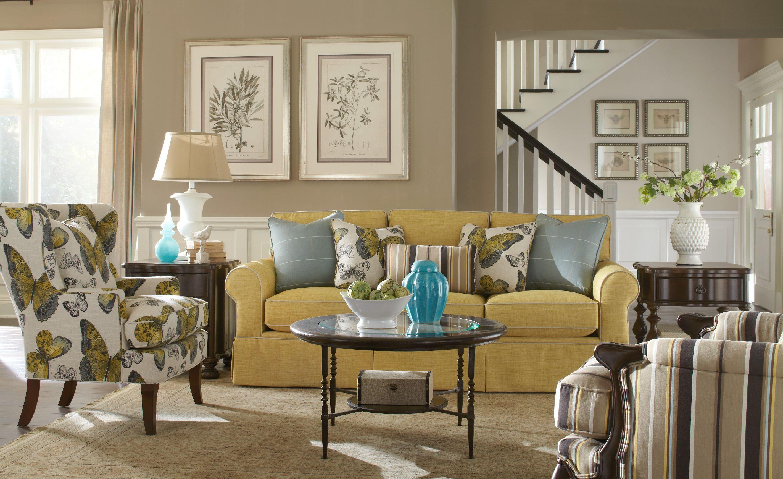 Paula Deen by Craftmaster Living Room Three Cushion Sofa ...