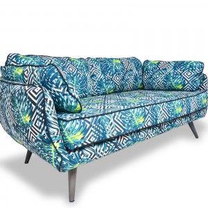 Canapé Tissu Imprimé Salon Design Salon Design Industriel - Canapé design industriel