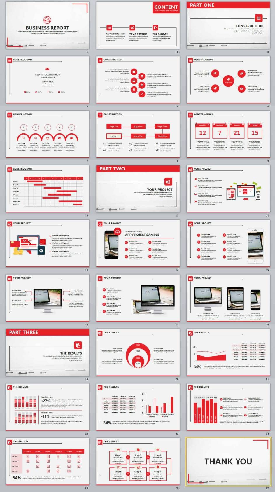 27+ red business design powerpoint templates | powerpoint, Modern powerpoint