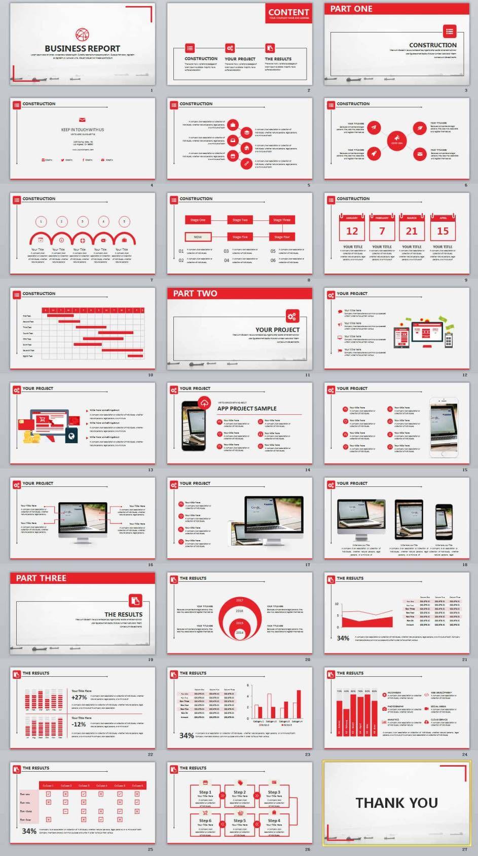 27+ red business design powerpoint templates | powerpoint, Modern powerpoint