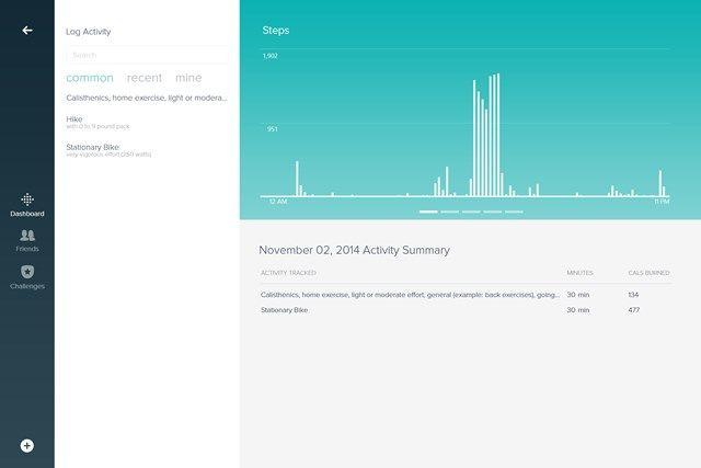 Fitbit capture d'écran 1 Écran