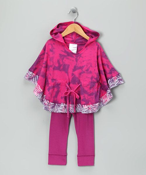 Cape-sleeves and a drawstring waist make this hooded tunic fun for the young. Not to be outdone by its partner in play, the matching leggings have super soft fabric that's both comfy and versatile. Includes tunic and pants50% cotton / 50% modalMachine wash; hang dryMade in the USA...