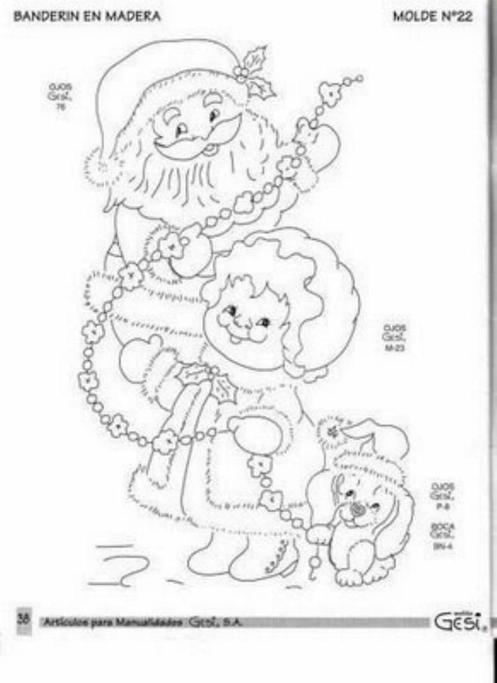 Mr and Mrs Santa Claus Coloring