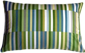 Waverly Side Step Marine 16x24 Throw Pillow from Pillow Decor