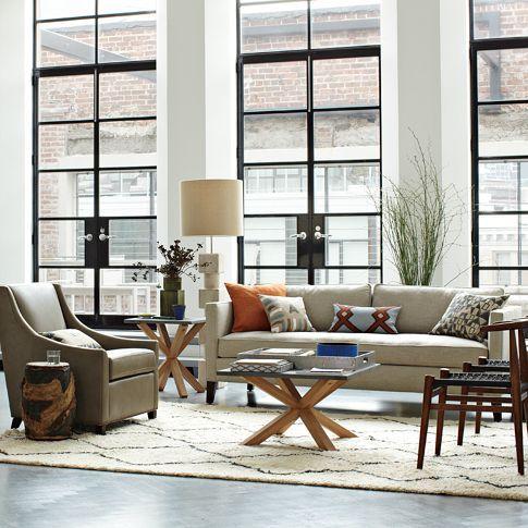 Dunham Down Filled Sofa   Box Cushion | West Elm