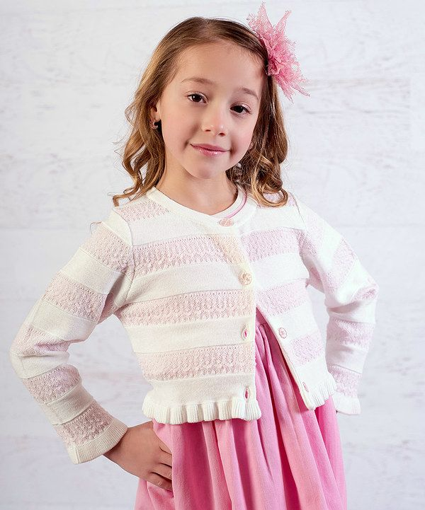 Look at this White Ruffle Crochet Cardigan - Infant, Toddler & Girls on #zulily today!