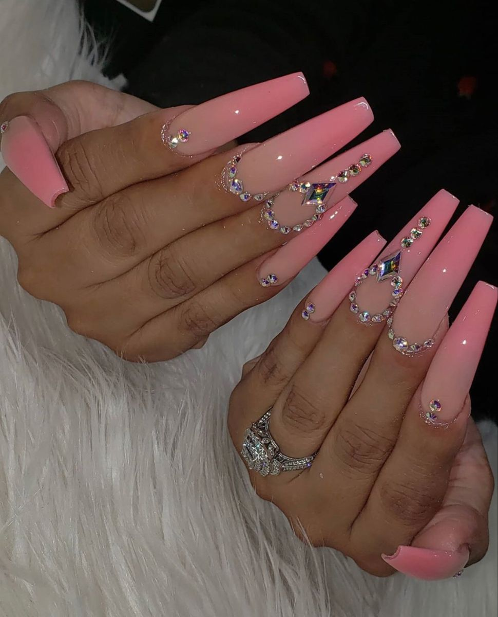 Pinterest Dy In 2020 French Tip Acrylic Nails Pink Acrylic Nails Long Acrylic Nails