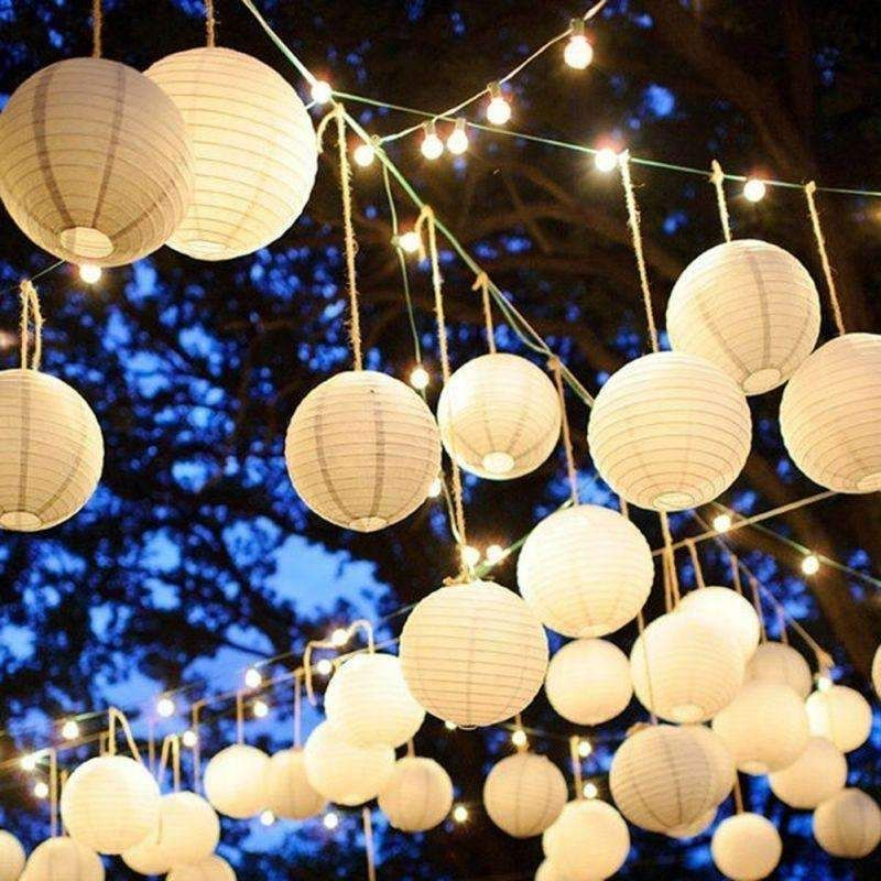 10 Pcs Party Accessories Chinese Paper Lantern Balloon Lamp Ball Light Supplies Decoration Hot