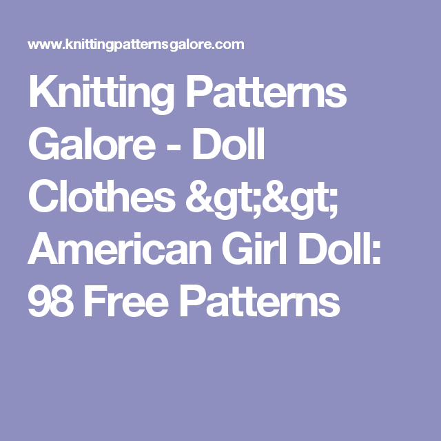 Knitting patterns galore doll clothes american girl doll 98 knitting patterns galore doll clothes american girl doll 98 free patterns dt1010fo