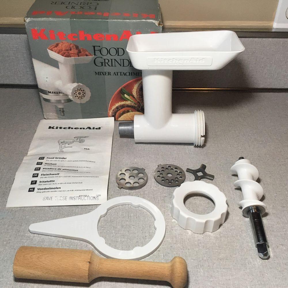 Uncategorized Ebay Appliances Kitchen kitchen aid nut food meat grinder attachment fga 2 complete ebay ebay