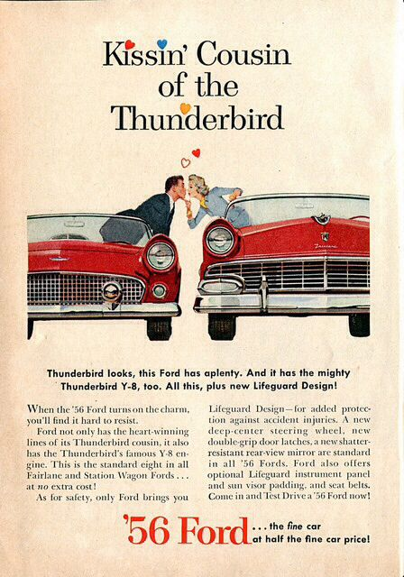 1956 Ford Fairlane Advertisement Readers Digest March 1956