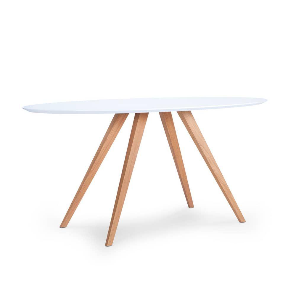 Loretta Tisch Oval Bequem Online Bestellen In 2020 Tisch Weisse Tischplatte Esstisch Eiche