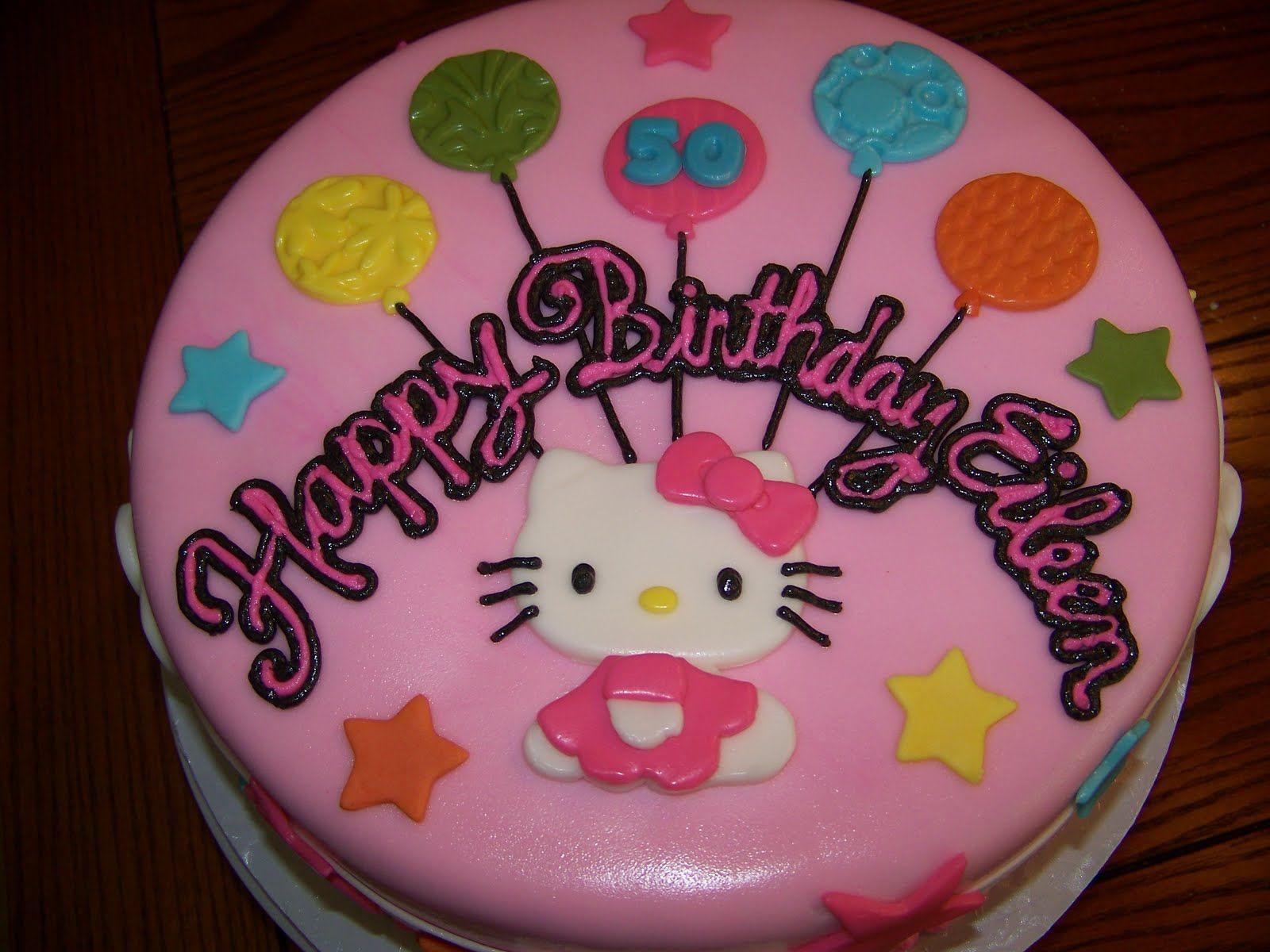 Plumeria Cake Studio Hello Kitty Birthday Cake Hannahs - Cute easy birthday cakes