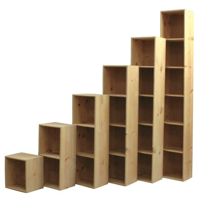 Solid Pine Bookcase Cubes Are Perfect Storage Pine Bookcase
