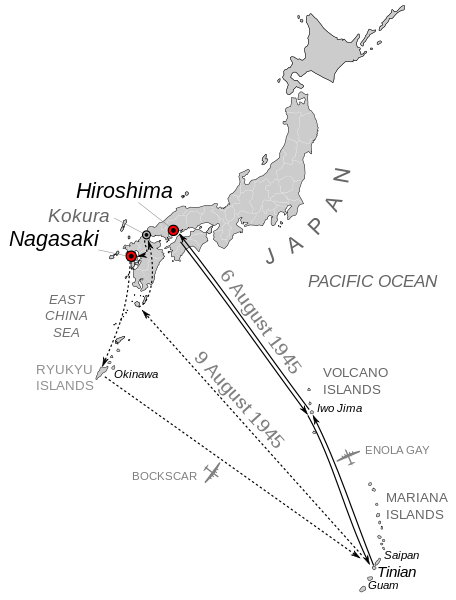 Kokura Japan Map.The Mission Runs Of August 6 And August 9 With Hiroshima Nagasaki