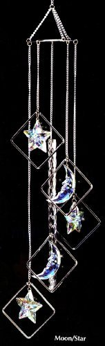 Iridescent Half Moon and Stars - Wind Chime- Arcylic Create Sparkles in Bright Sunlight, Indoor - Outdoor Decor 24 Inches by Wind Chime Garden, http://www.amazon.com/dp/B00A1G87Y4/ref=cm_sw_r_pi_dp_9puDrb0V4PC8R