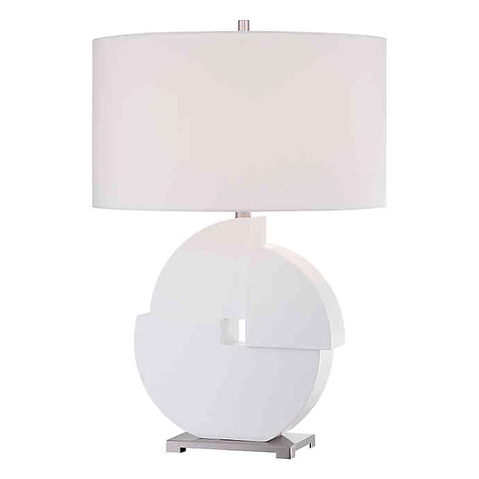 George Kovacs Portables 18 Inch Table Lamp With White Finish Bed Bath Beyond Table Lamp White Lamp Shade Lamp