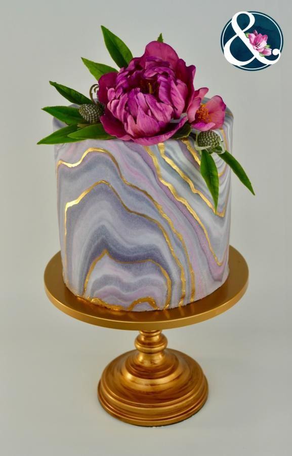 Marble Design Cake Birthday