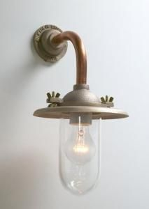 Cast Iron Well Glass Outside Light | Small wall lights, Wall