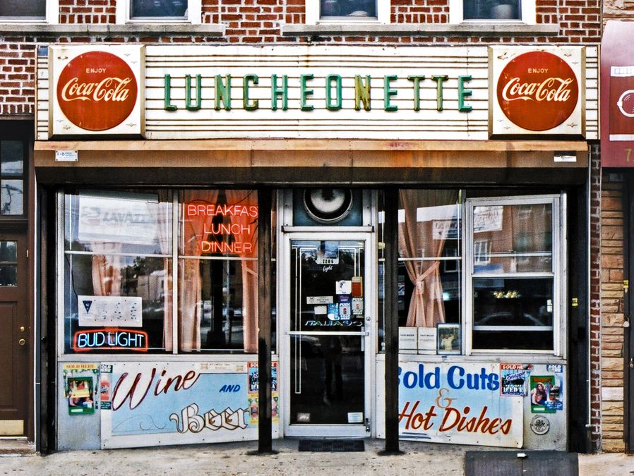 The Urban Lens Documenting New York City S Vanishing Privilege Signs 6sqft Vintage Storefront Store Fronts Storefront Signage