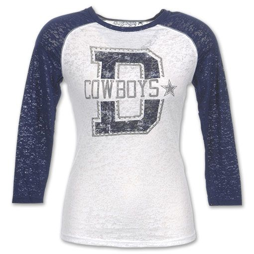 Bling T Shirts For Women Dallas Cowboys Bling Raglan Nfl Women S 3 4 Sleeve Tee Shirt White Dallas Cowboys Outfits Clothes Dallas Cowboys