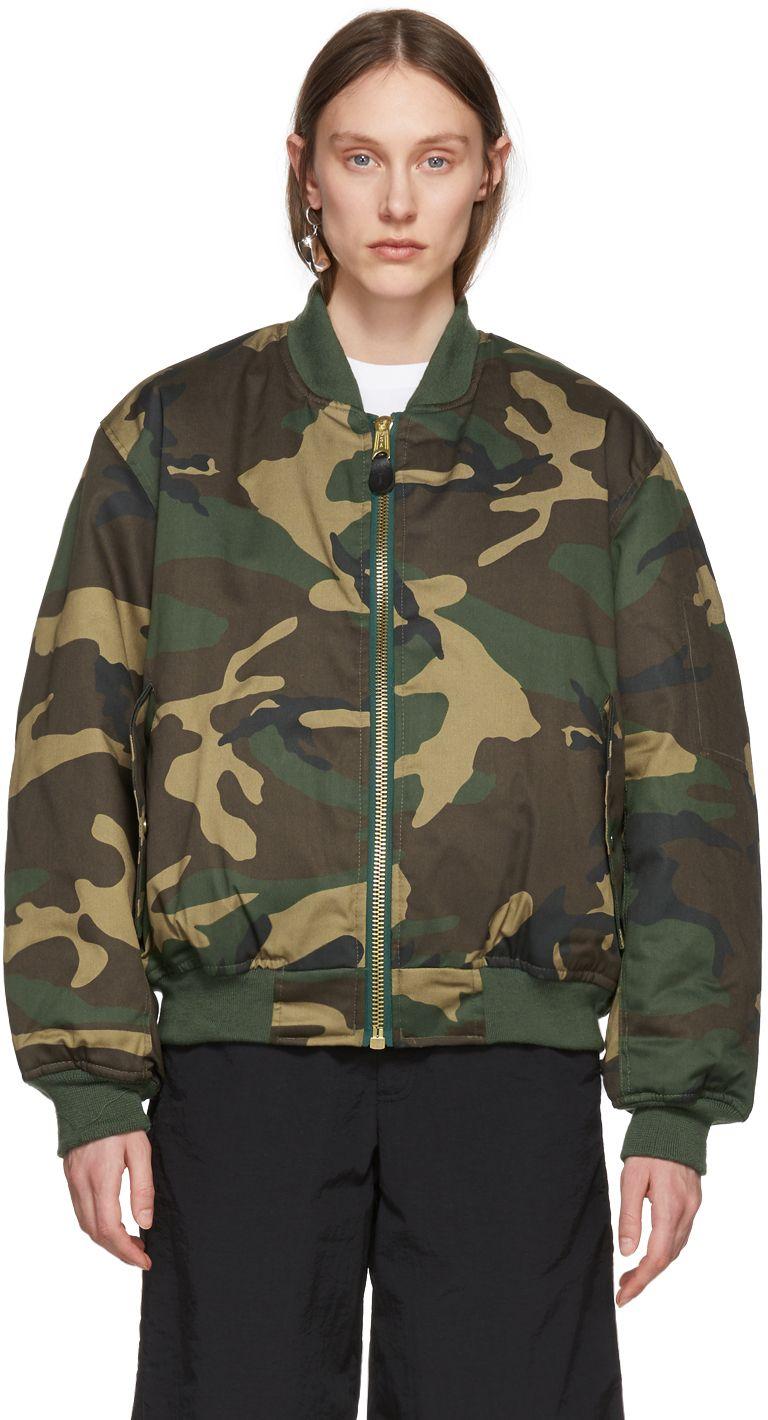 Alyx Green Camo Outerwear Pilot Jacket Streetwear Women Pilot Jacket Women [ 1420 x 768 Pixel ]