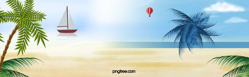 من ناحية رسم الصيف السفر على شاطئ البحر من المواد الأساسية Summer Travel Background Seaside