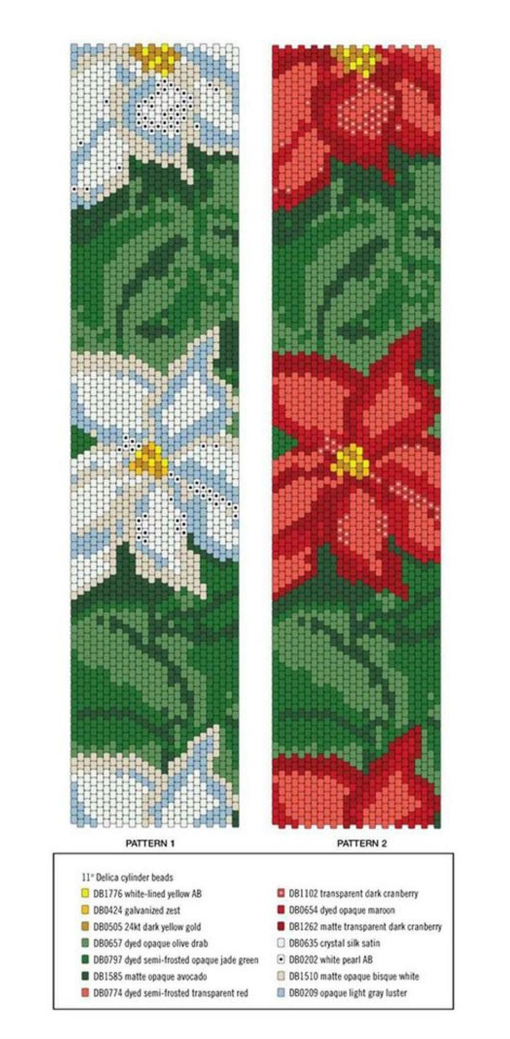 Схемы плетения из бисера на станке браслетов.