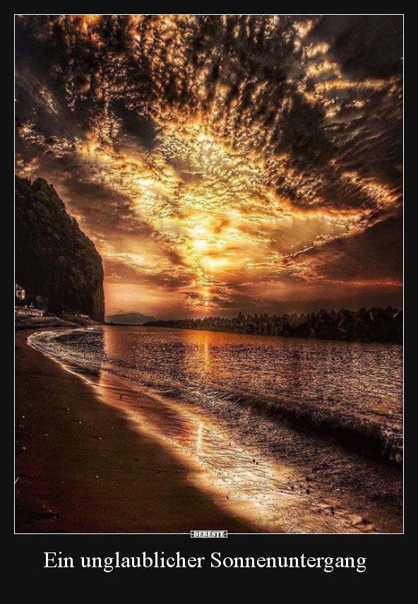 Ein unglaublicher Sonnenuntergang.. | Lustige Bilder, Sprüche, Witze, echt lustig