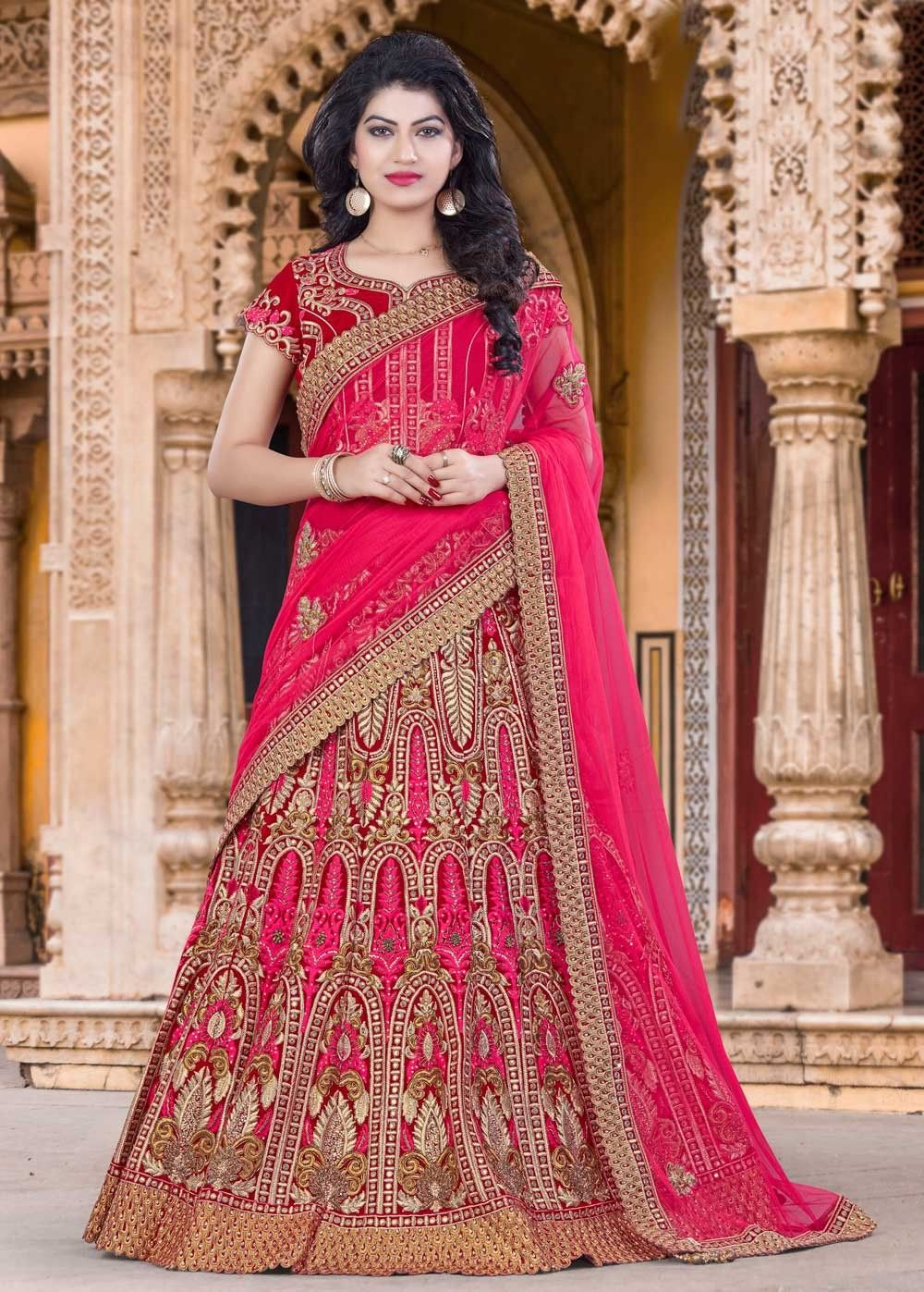 Rajasthani style Bridal wear Designer Lehenga in Bhagalpuri Silk ...