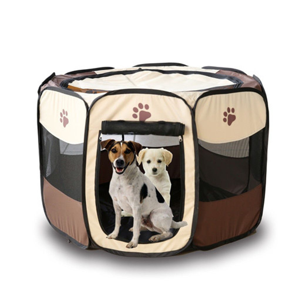Pet Supplies Colorful Pets Folding Cage Portable Dog Playpen Pet Fence  Kennel Puppy Sleeping Tent #