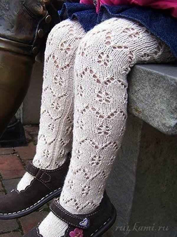 детские колготы спицами | колготи | Pinterest | Knit leggings