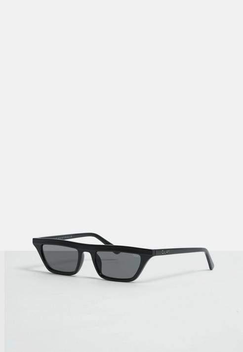 dfce6239c53 Missguided Quay Australia X Alissa Violet Finesse Black Smoke Sunglasses