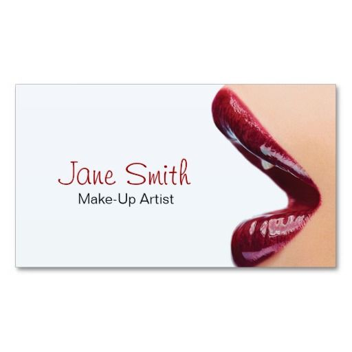Makeup Artist Business Card Zazzle Com Makeup Artist Business