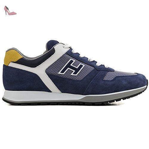 Hogan Homme Hxm3210y110fx09630 Bleu Suede Baskets Chaussures Hogan Partner Link Bayan Ayakkabi Ayakkabilar