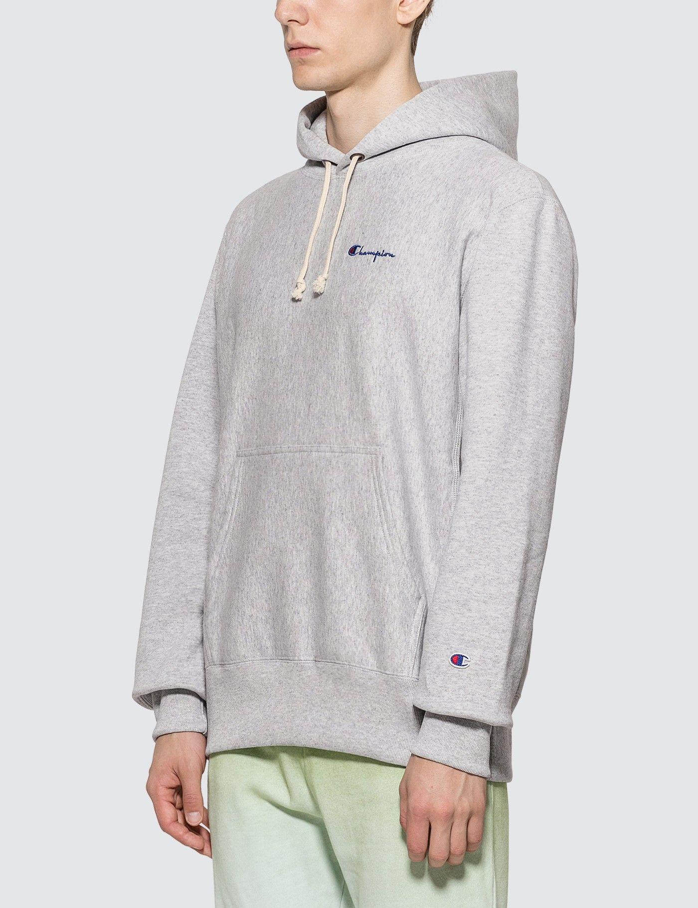 Champion Reverse Weave Small Script Hooded Sweatshirt Hbx Hooded Sweatshirts Sweatshirts Champion Reverse Weave [ 1820 x 1400 Pixel ]