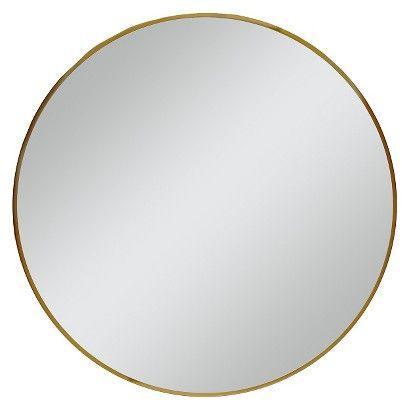 Round Mirror Brass 28