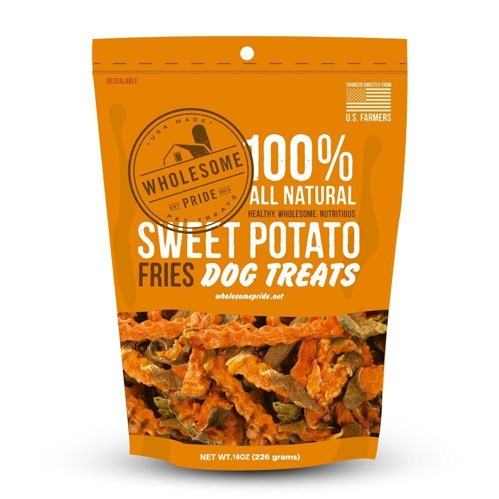 Wholesome Pride Pet Treats Sweet Potato Fries Dog Treats 16oz