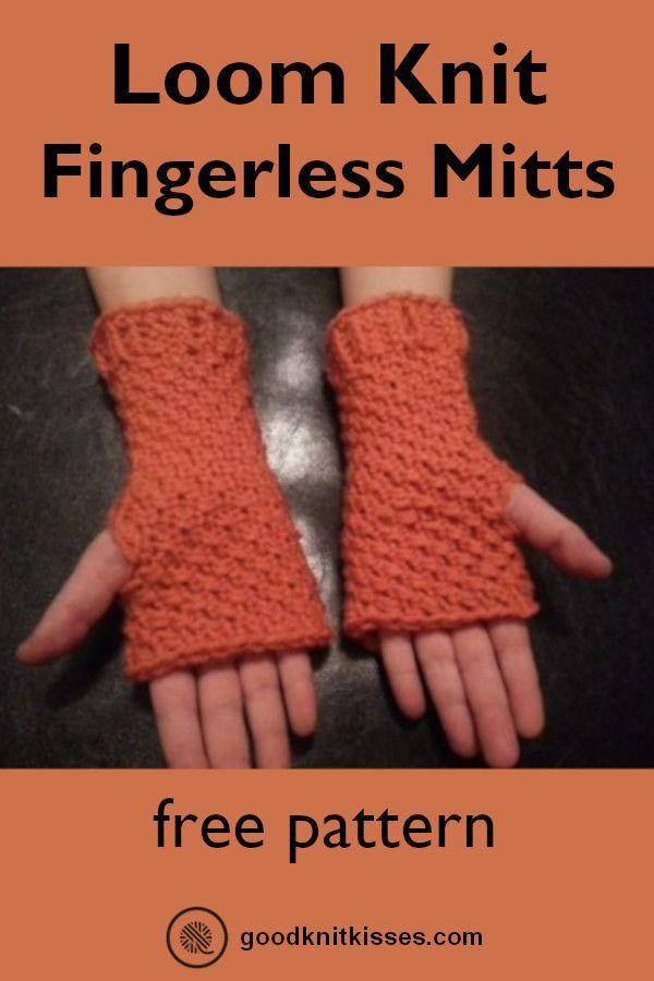 Fingerless Mittens | Loom | GoodKnit Kisses